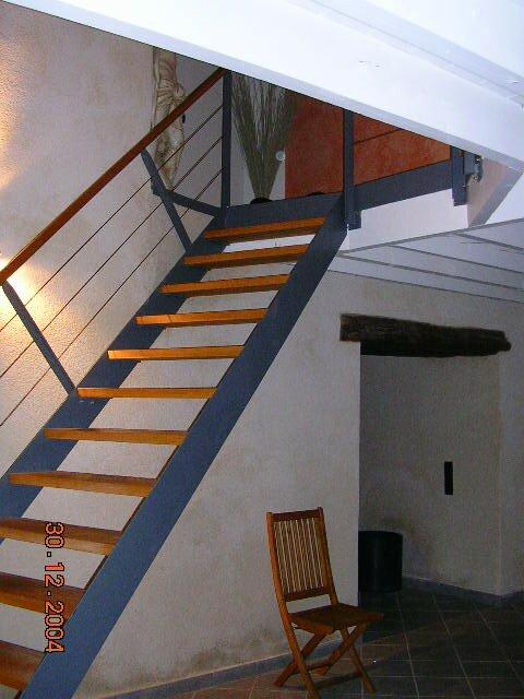 L'escalier d'accès à l'étage