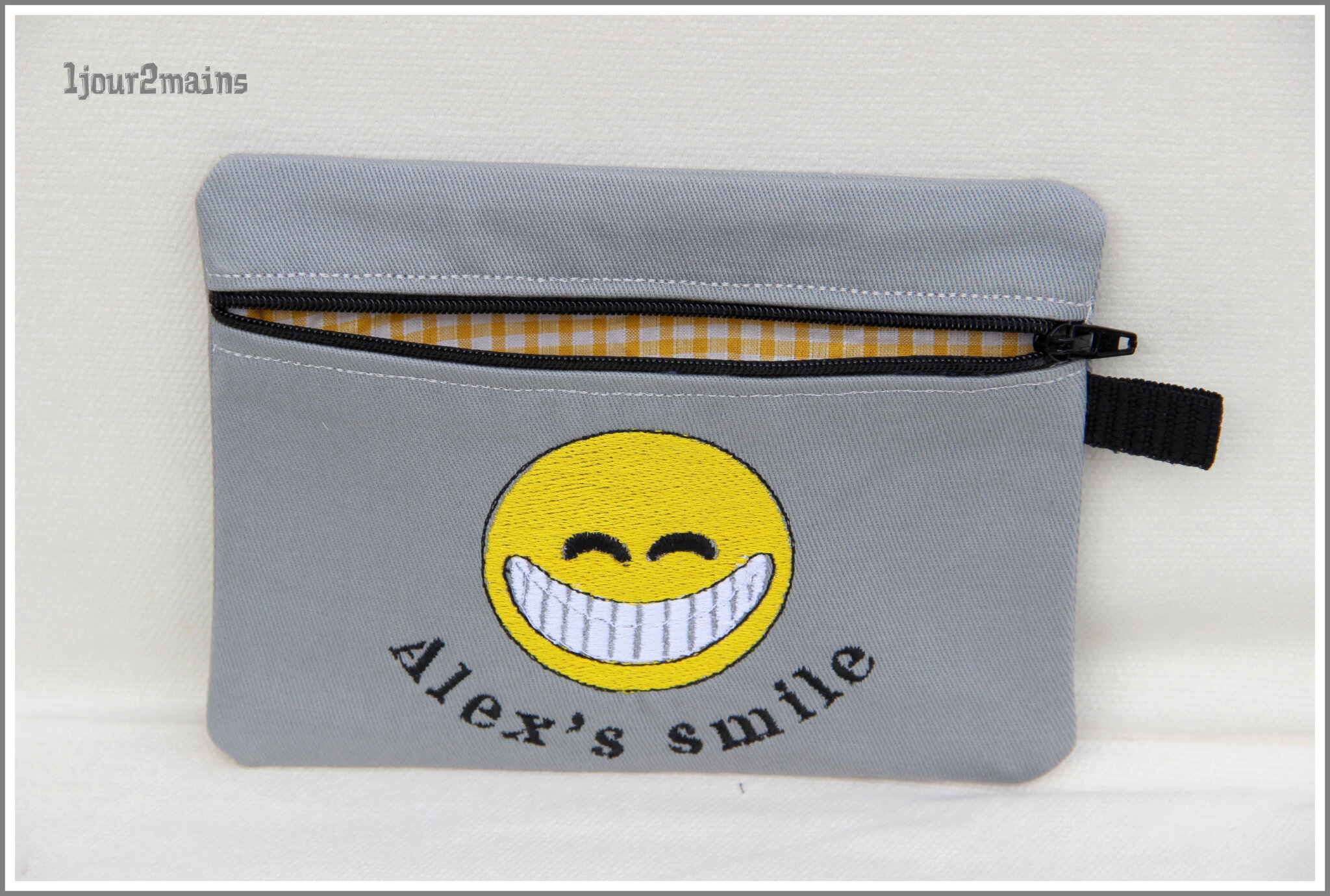 trousse zip jaune alex