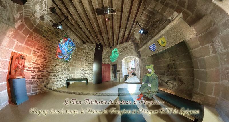 La Tour Mélusine du château de Fougères - Voyage dans le temps de Jeanne de Fougères et Hugues XII de Lusignan