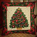 Cuscino natale vittoriano - christmas cushion victorian style - coussin de noel style victorien
