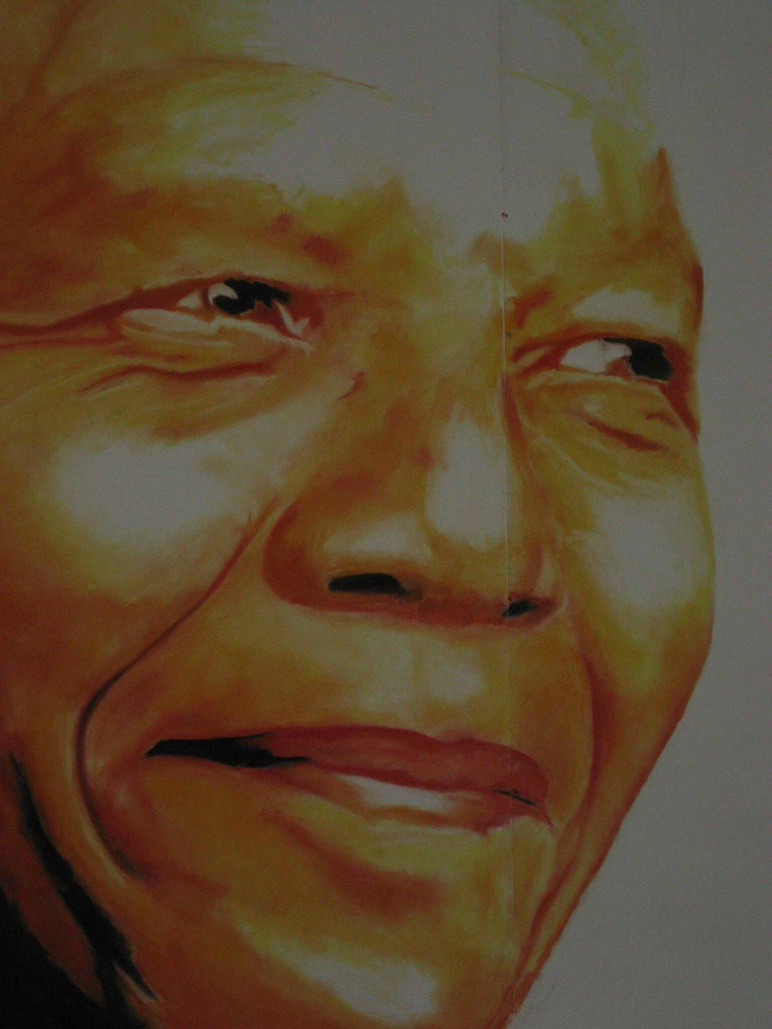 Mandela tres gros plan