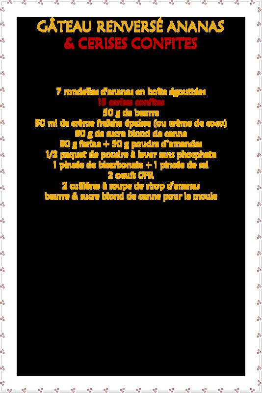Gâteau renversé ananas & cerises confites_fiche