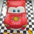 Gâteau Cars Flash McQuenn #3