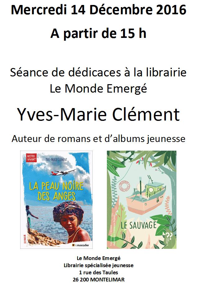Yves-Marie Clément à la librairie Le Monde Emergé