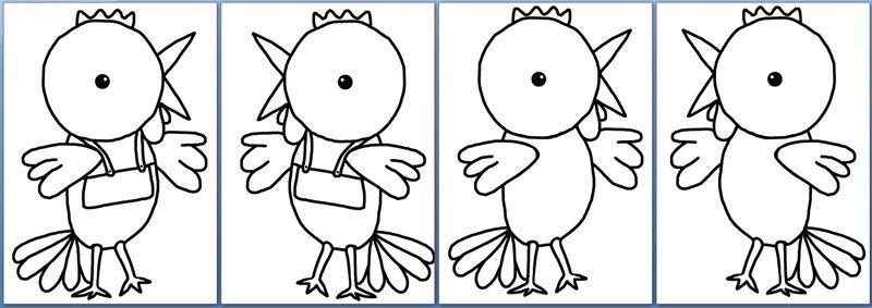 362-OUTILS ET DECO POUR LA CLASSE-Les p'tites poulettes et les p'tits perroquets (63)