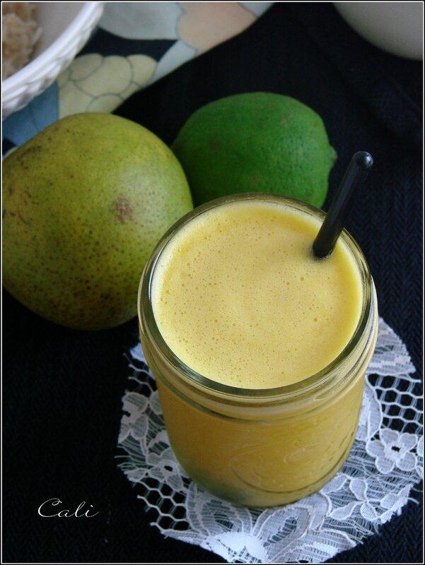 Jus Ananas, Orange, Citron Vert & Gingembre 001