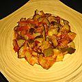 Wok de courgettes aux oignons et aux tomates cerise à la sauce aigre-douce