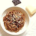 Spaghettis carbonara au chocolat