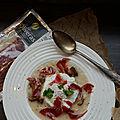 Pata negra et sa soupe chou-fleur champignons