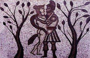 Didon et Enée - Mosaique de la villa romaine de Low Ham, GB, 4e siècle