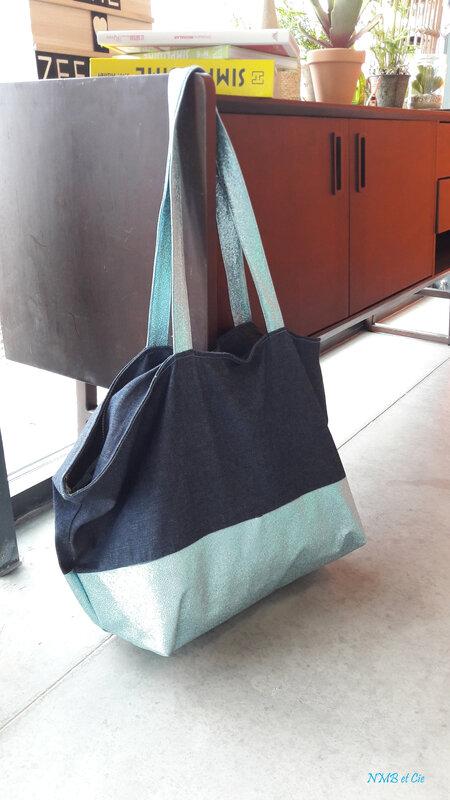 Mes jolis sacs - Traveller bag bleu paillettes