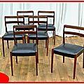 6 chaises vintage design danois palissandre vendu