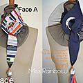 Cravate féminine et ceinture réversible