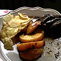 Magret de canard aux épices et aux pêches