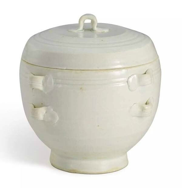 A Qingbai handled jar and cover, Song dynasty