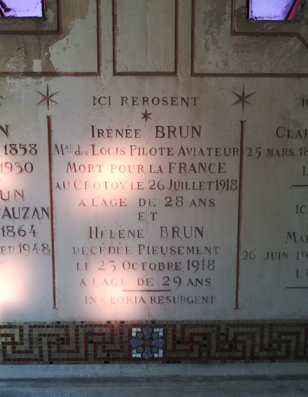 inscription tombale Irénée Brun