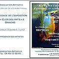 - exposition peintures et sculptures - brindas