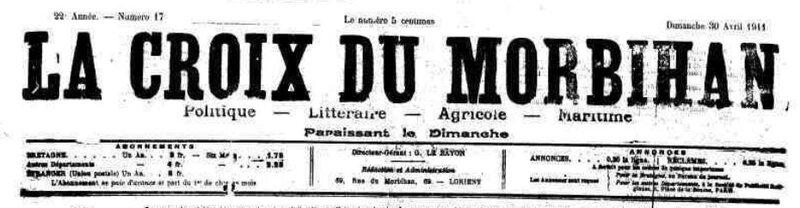 Presse La Croix du Morbihan 1911_1