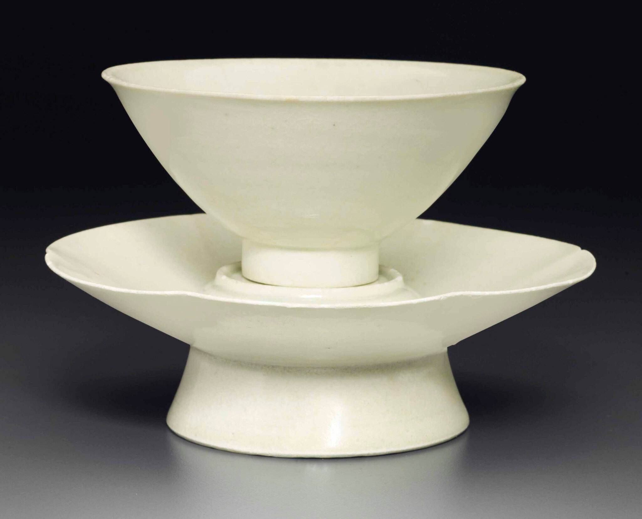 A Qingbai cup and stand, Southern Song dynasty (1127-1279)