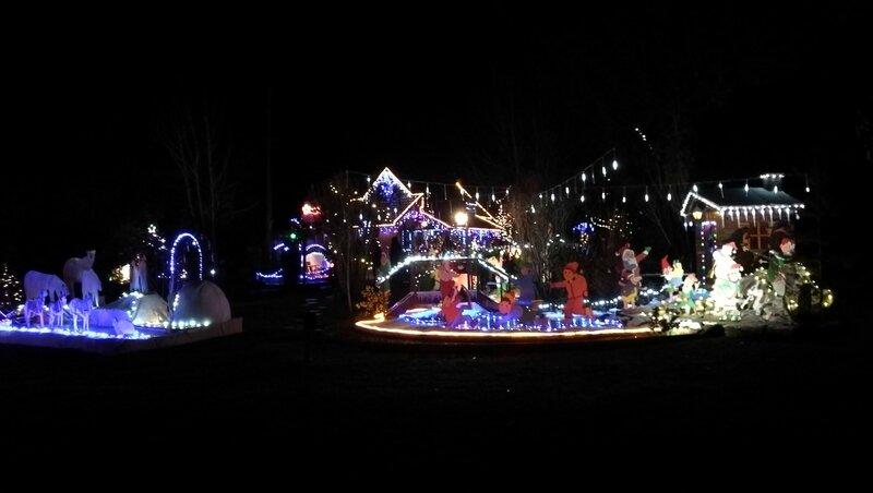 Champvert, maison illuminée Noël