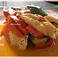 Poulet à la thaïlandaise sauce coco et curry
