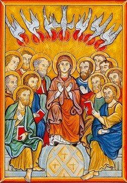 18- L'Effusion de l'Esprit Saint au Cénacle