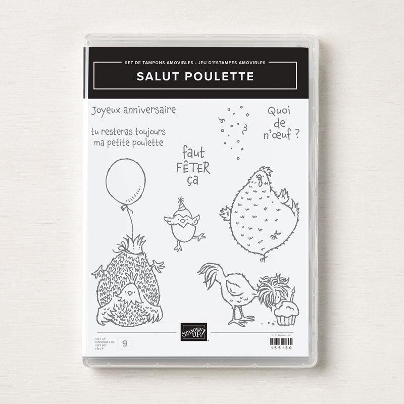 Set de tampons Salut poulette_Image
