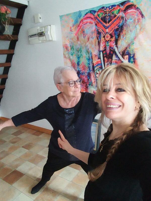 Arlette et Linda le 14