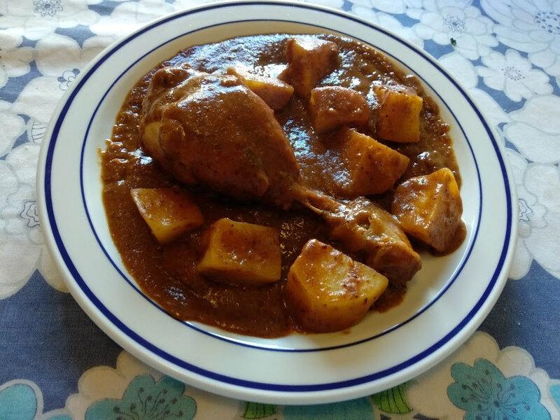 Cuisses de poulet à la crème de chorizo