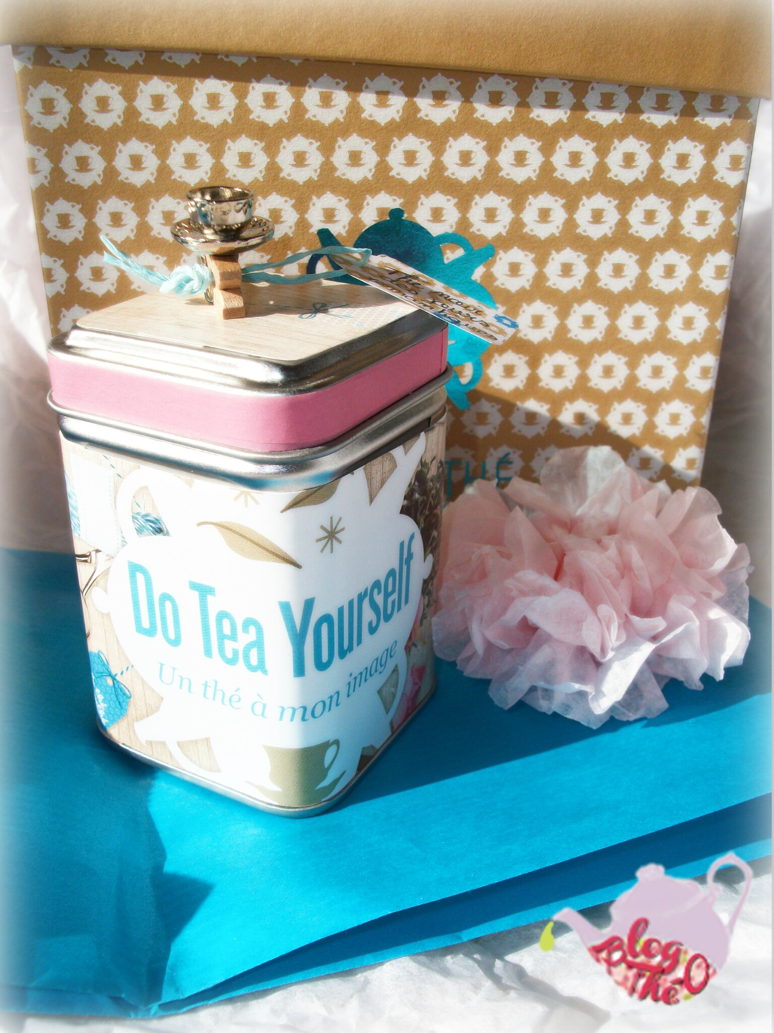 ╰۝☽ 83# DIY Customisation de la boite métal EnvouThé de la Box Do Tea Yourself à imprimer