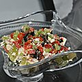 Salade grecque en confettis