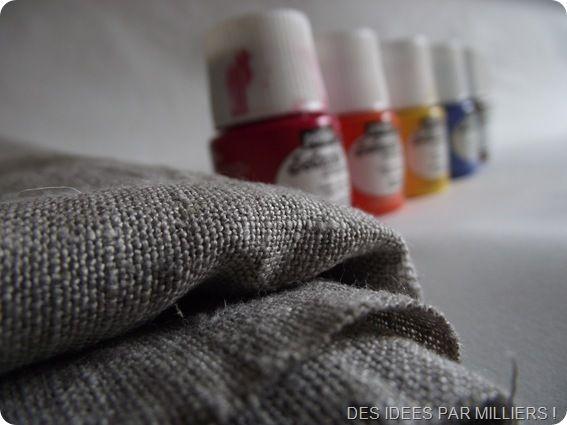Lin et peinture sur tissu