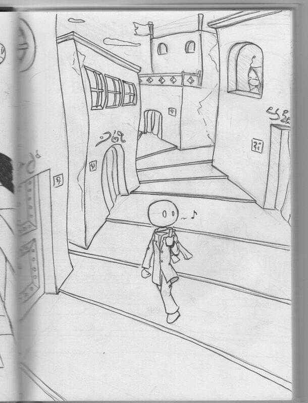 voyageur dans les marches