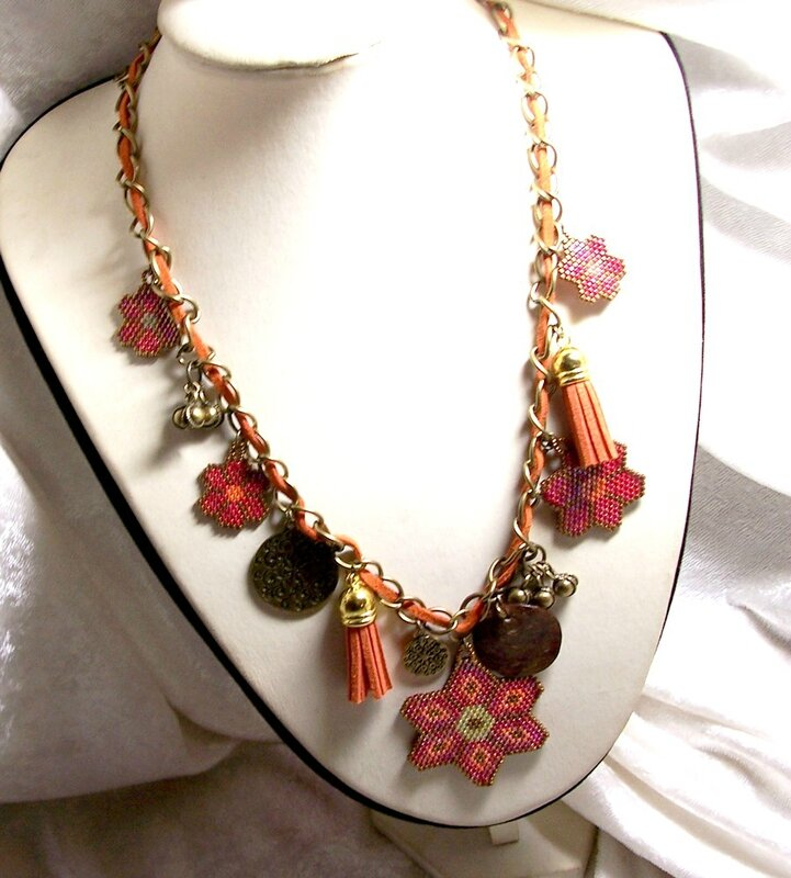 Collier Gypsi flower 2