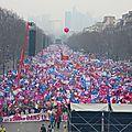 Paris, le 24 mars 2013 : 1 700 000 personnes manifestent