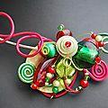 collier tour de cou vert anis et rouge jpeg