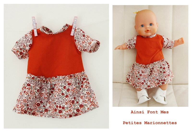 poupee robe orange