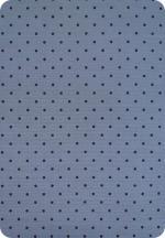 Tissu gris à pois noir France Duval
