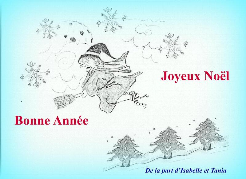 D-Carte Noël Sorcière Isabelle et Tania