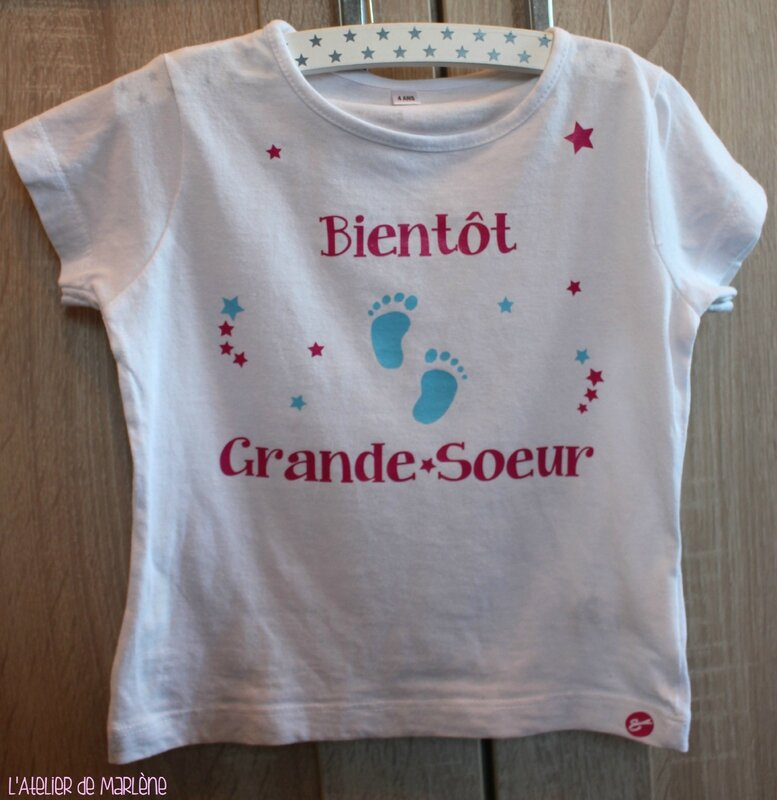 tee shirt bientot grande soeur