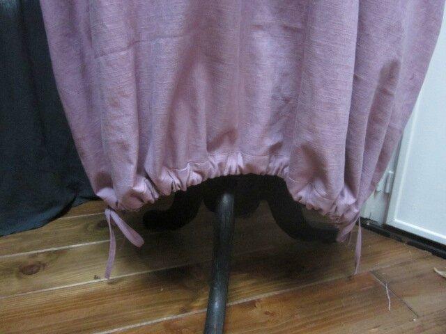 Robe HENRIETTE en lin vieux rose (6)