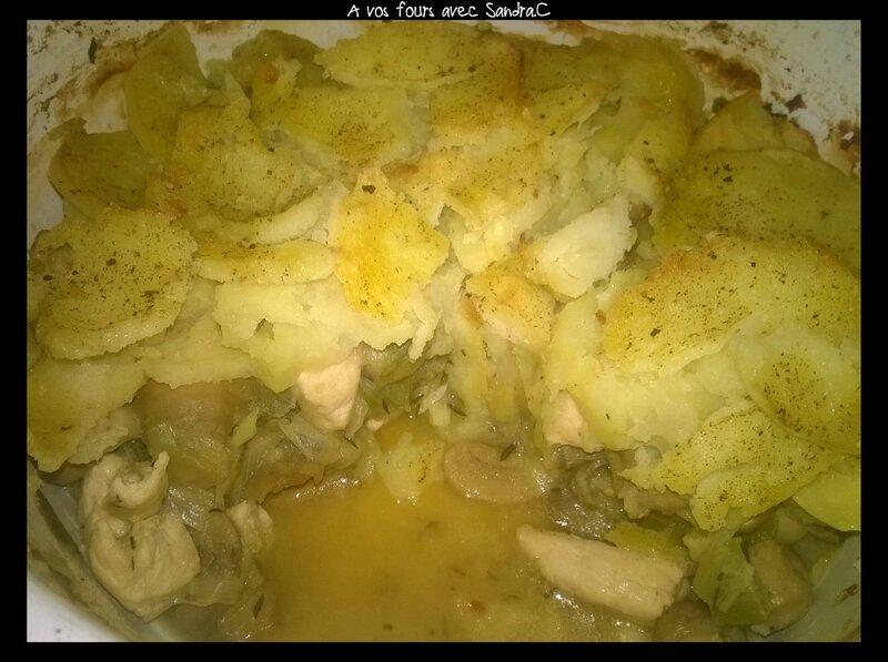 Cocotte de poulet aux poireaux et champignons 2