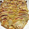 Feuilleté de pommes de terre et fenouil en gratin