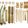 A group of 26 pieces of bone carvings, central asia, 1st millennium b.c. and later