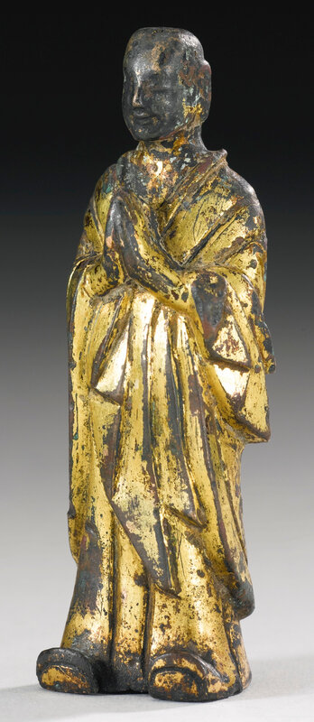 A gilt-bronze figure of Ananda, Northern Wei dynasty (386-534)2