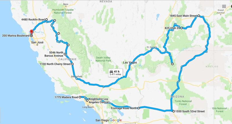trajet google map