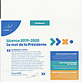 Licence 2019-2020