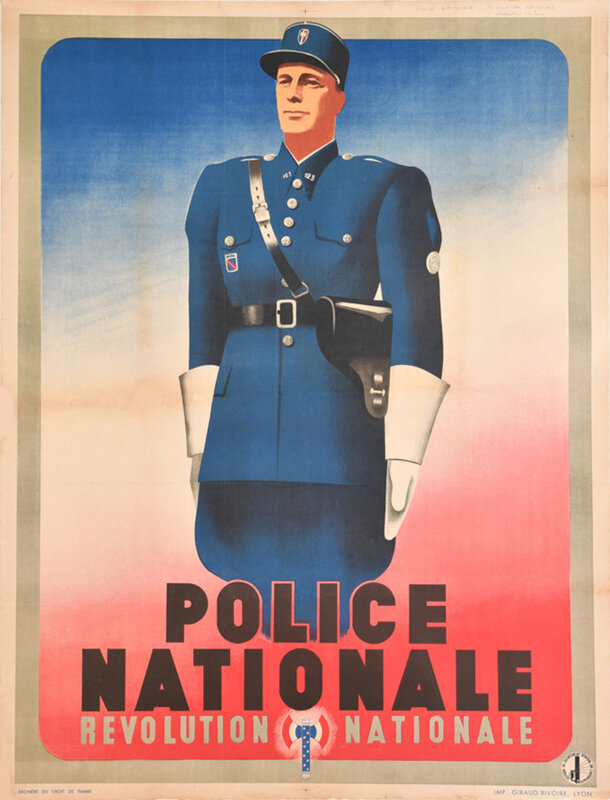 Affiche_Police_nationale_Révolution_nationale