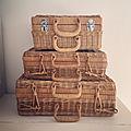 * ma petite collection de valises en osier chinée