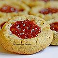 Biscuit aux noisettes, épices pain d'épices et confiture de lait